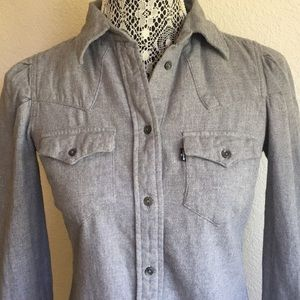 Levi's Western shirt flannel size small